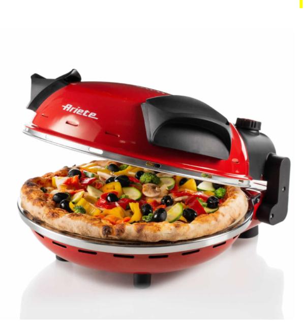 Ariete Fornetto elettrico Pizza Pietra refrattaria 1200W 909 Pizza in 4 minuti